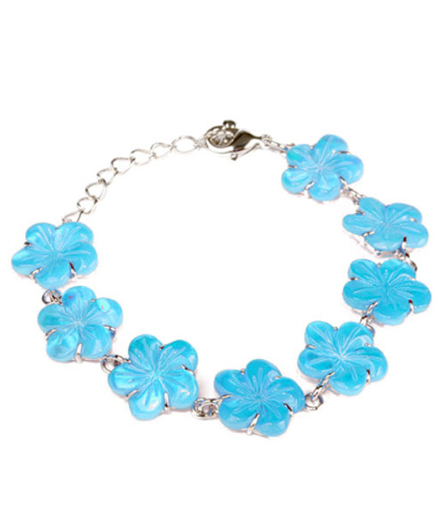 Color-Changing Bracelet - Blue Flower Shell