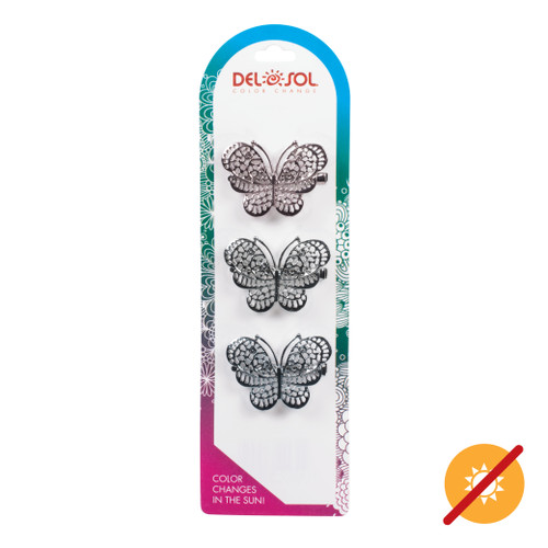 Color-Changing Hair Clips - Metal Butterfly