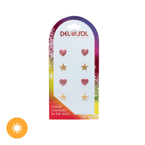 Color-Changing Earrings – Hearts and Stars