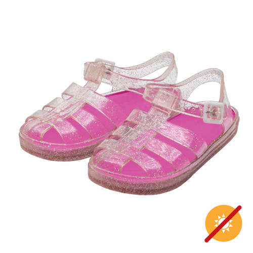 Adventure Sandal - Clear to Pink