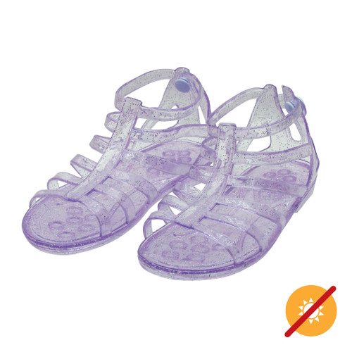 Gladiator Sandal - Clear to Purple