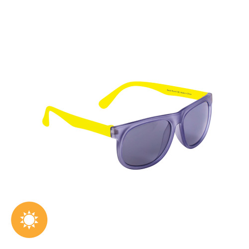 Kid's Solize Sunglasses - Beach Bound - Frosted Clear to Purple