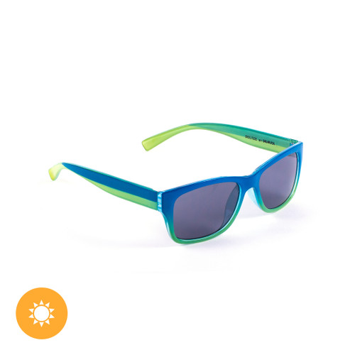 Kid's Solize Sunglasses - Hello Summer - Blue and Yellow to Green