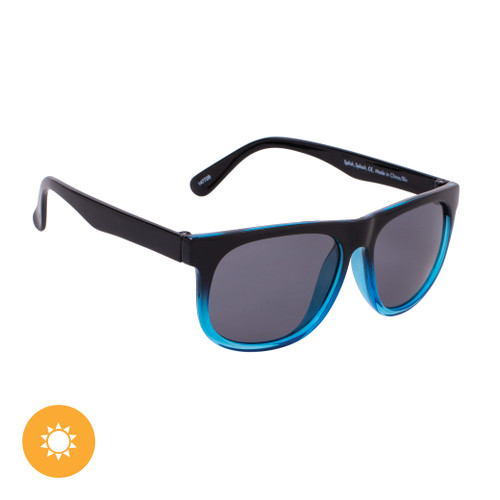 Kid's Solize Sunglasses - Splish, Splash - Black and Clear to Blue