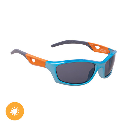 Kid's Solize Sunglasses - I Gotta Feeling - Silver to Blue