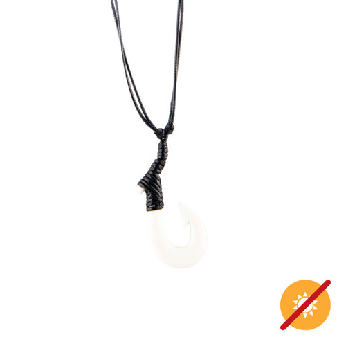 Color-Changing Necklace - Hook - White to Blue