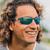 Solize Sunglasses - California Sun - Charcoal to Blue