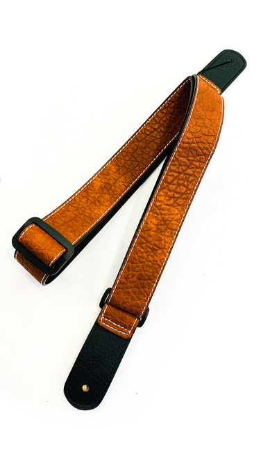 ISUZI UK-12 Tan Leather Ukulele Strap