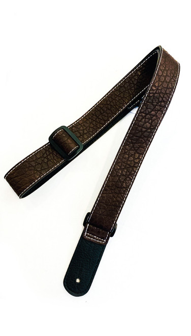 ISUZI UK-14 Brown Leather Ukulele Strap