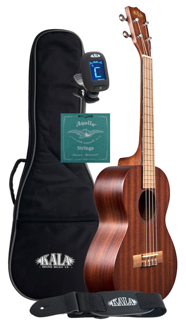 Kala KA-15T Entry Level Mahogany Tenor Ukulele Bundle