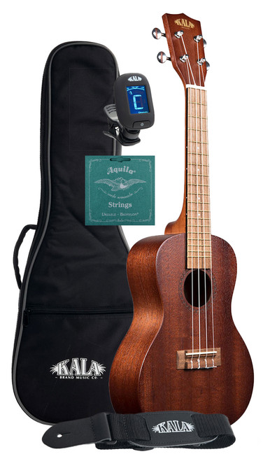 Kala KA-15C Entry Level Mahogany Concert Ukulele Bundle