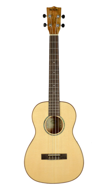 Kala KA-FMBG Solid Spruce Top Flame Maple Baritone Ukulele