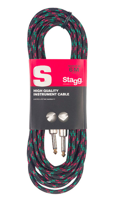 Stagg 6M Black Tweed Instrument Cable