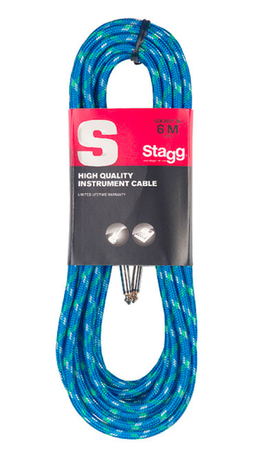 Stagg 6M Blue Tweed Instrument Cable