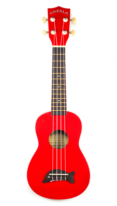 Makala Dolphin Candy Apple Red Soprano Ukulele