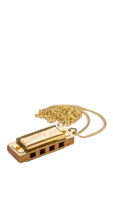 Hohner Gold Plated Necklace Little Lady Harmonica