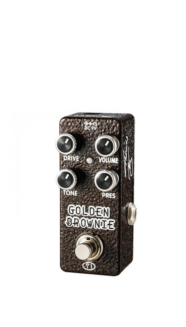 Xvive XT-1 Golden Brownie Distortion Pedal by Thomas Blug
