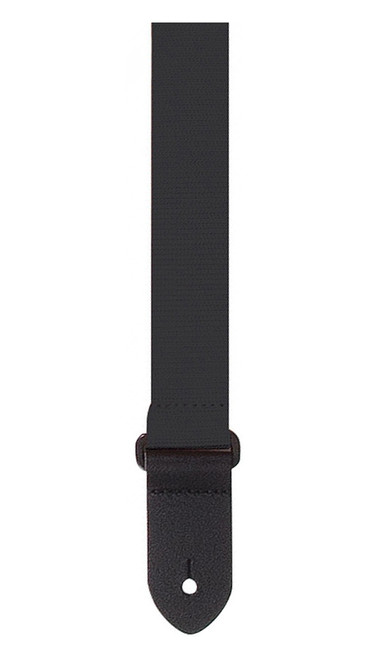 Perris Black Woven Cotton Ukulele Strap