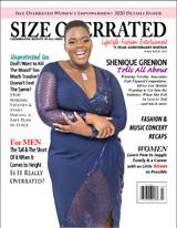 J Bri Designs dresses model Shenique Grenion for cover of  Size Overrated Magazine