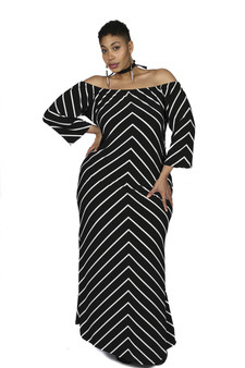Cold shoulder maxi(Back by popular demand)
