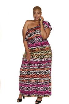 Black fuschia pnk maxi dress