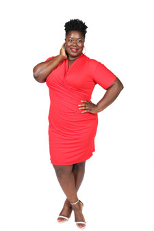 Red ITY faux wrap ambassador dress