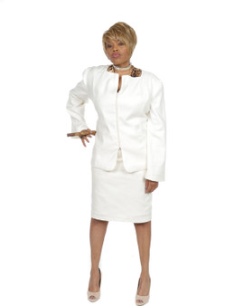 Creme 2pc suit (Power 5 Collection)( Sold Out)