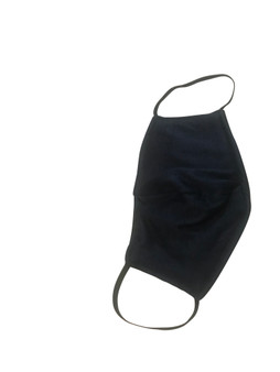 Black Cotton Face Mask  reversible  Built in Fabric Filter Polypropylene