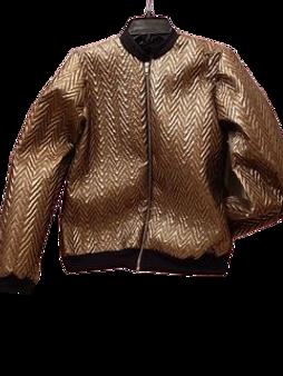 Metallic Bomber Jacket (Gold)