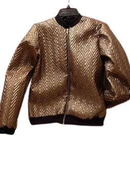 Metallic Bomber Jacket (Gold)