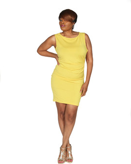 Meri gold fitted ITY dress