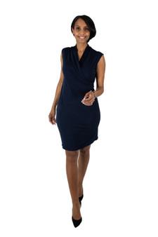 navy blue ITY ambassador dress