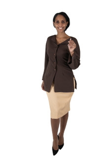 Chocolate brown dolman sleeves blazer
