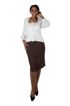 Off white fitted shirjacket(shirt jacket)