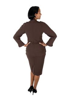Chocolate brown button front blazer