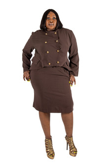 Chocolate brown skirt with side pockets