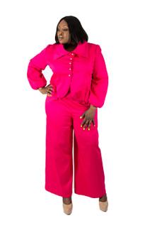 Fuschia Pink High Waisted Pants