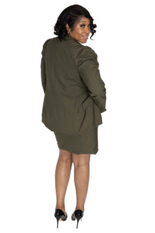 Olive green fitted skirt