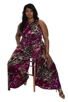 Fuschia Pink  Black Multi ITY Jumpsuit