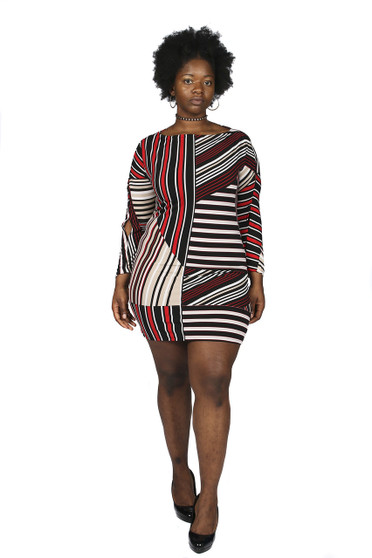 Abstract print dress(Back by popular demand)