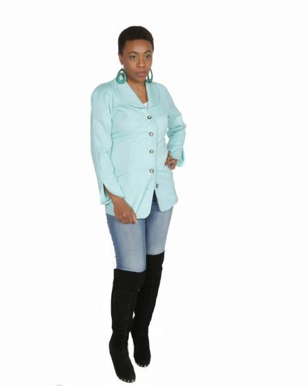Aqua blue blazer