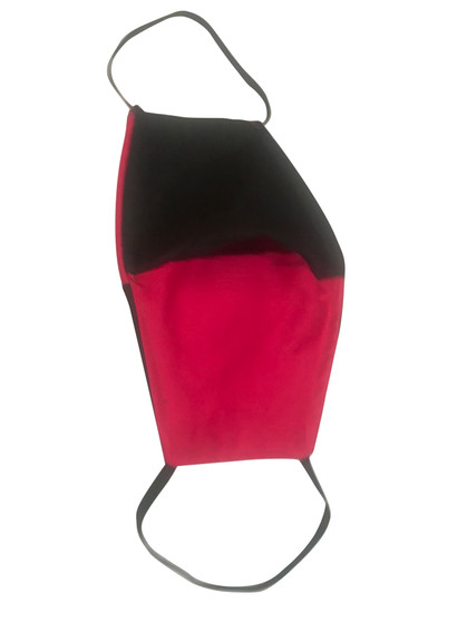 Fuschia Pink and Black Cotton Face Mask  Open Pocket For  Filter -Also Has Built in Fabric Filter Polypropylene