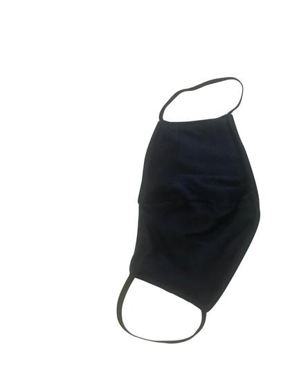 Black Cotton Face Mask  reversible  Built in Fabric Filter Polypropylene
