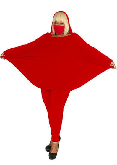 Little Red Hooded Dress