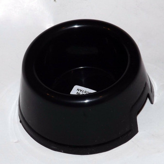 Small Reptile Water Bowl/Dish  w/ Hide Space  ~ Black Polypropylene Plastic