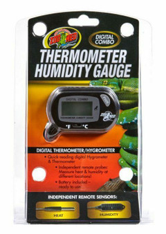 Zoo Med Digital Reptile Thermometer Humidity Gauge External Probes