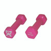 CanDo¨ vinyl coated dumbbell - 1 lb - Pink, pair