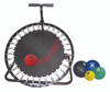 Adjustable Ball Rebounder - Set with Circular Rebounder, 5-balls (1 each: 2,4,7,11,15 lb)
