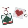 Allen Diagnostic Module Needlepoint Heart Key Rings, Pack of 6