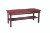 "wooden treatment table - H-brace, shelf, upholstered, 78"" L x 30"" W x 30"" H"